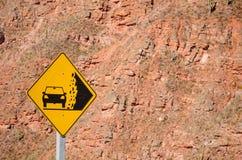 Landslide warning Royalty Free Stock Images