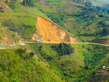 Landslides in african mountains Royalty Free Stock Image