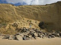 Landslides hazard signal Stock Images