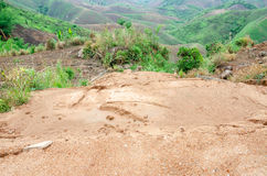Landslides during in the rainy season Royalty Free Stock Photos