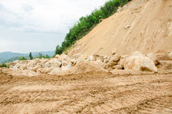 Landslides during in the rainy season,Thailand Stock Image