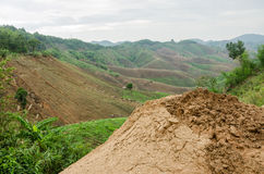 Landslides during in the rainy season,Thailand Stock Photography