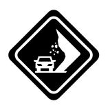 Landslides on the road traffic signal icon. Vector illustration design Royalty Free Stock Images