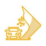 Landslides on the road traffic signal icon. Vector illustration design Stock Photo