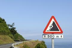 Landslides warning Stock Photo