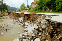 Landslip road Royalty Free Stock Photography