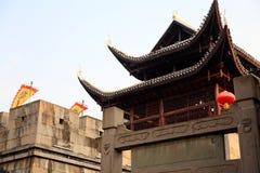 Landslivet av Qianzhou den forntida staden Arkivfoto