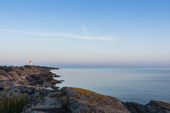 Landsort historic lighthouse Stockholm archipelago Royalty Free Stock Image