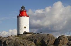 Landsort lighthouse, Sweden. Swedens oldest lighthouse on the island Oja stock image