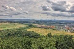 Landspace ÄŒeská Lípa - clouds & photo from hill Åpičák. Landspace from hill Špičák Landspace Česká Lípa Landspace Czech republic stock photos