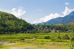 Landspace av Muong La, Son La, Vietnam Royaltyfri Foto