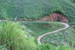 Landspace av Muong La, Son La, Vietnam Royaltyfri Bild