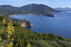 Landspitze von Capo Caccia - Sardinien - Italien Stockfotografie