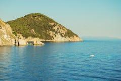 Landspitze von Enfola in Elba-Insel stockfotografie