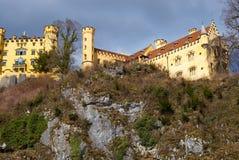 Landsqape sikt från den neuschwanstein slotten royaltyfri foto