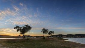 Landssidolandskap i Alentejo, Portugal Royaltyfri Foto