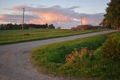 Landssidoväg Royaltyfri Fotografi