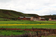 Landssikt på Tibet Royaltyfria Foton