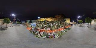 Landssorg efter bortgången av Michael I på Royal Palace i Bucharest, Rumänien Arkivfoto