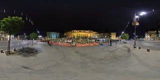 Landssorg efter bortgången av Michael I på Royal Palace i Bucharest, Rumänien Arkivbild