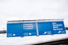 Landstraße Bundesautobahn 5 in Deutschland Stockfoto