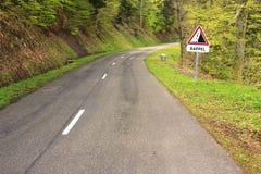 Landstraße in den Vosges-Bergen Stockbilder