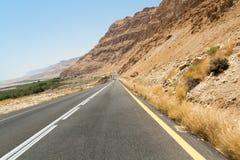 Landstraße des Toten Meers stockbild