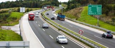 Landstraße EU stockfoto