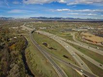 Landstraße I70, Arvada, Colorado Stockfotografie