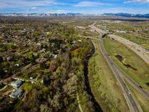 Landstraße I70, Arvada, Colorado Lizenzfreie Stockfotos