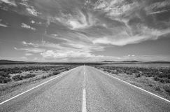 Landstraße 64 im New Mexiko Stockfoto