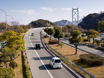 Landstraße in Japan lizenzfreies stockfoto