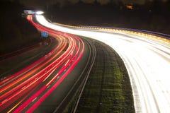 Landstraße nachts Lizenzfreies Stockfoto