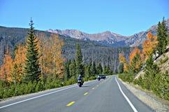 Landstraße 34, Rocky Mountain National Park Stockfotografie