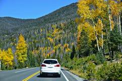 Landstraße 34, Rocky Mountain National Park Lizenzfreie Stockbilder