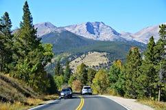 Landstraße 34, Rocky Mountain National Park Lizenzfreies Stockbild