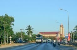 Landstraße in Süd-Vietnam Stockfotos