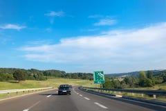 Landstraße in Serbien, Europa Lizenzfreies Stockfoto