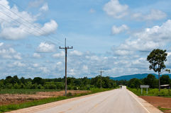 Landstraße in Thailand Stockbilder