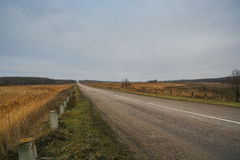 Landstraße Zaporozhye-Mariupol stockbilder