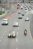 Landstraßen-Bau-Zonen-Verkehr stockbilder