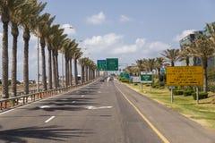 Landstraßen in Israel lizenzfreies stockbild