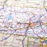 Landstraßen-Karte von Massachusetts USA Stockbilder