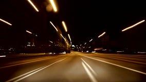 Landstraßen-Raserei-Kamera-Auto-hohe Geschwindigkeit 4k stock footage