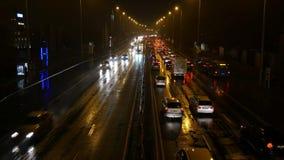 Landstraßen-Verkehr Budapest stock video footage