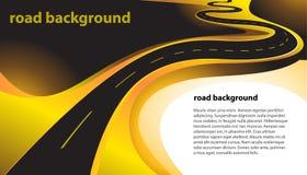 Landstraßenvektorhintergrund lizenzfreie abbildung
