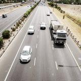 Landstraßenverkehr in Cape Town stockbilder