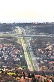 Landstraßenvogelperspektive Lizenzfreies Stockfoto