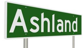 Landstraßenzeichen für Ashland Oregon Lizenzfreie Stockfotos