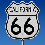 Landstraßenzeichen für historisches Route 66 in Kalifornien vektor abbildung